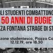 Spezzone studentesco – Corteo per i 50 anni da Piazza Fontana