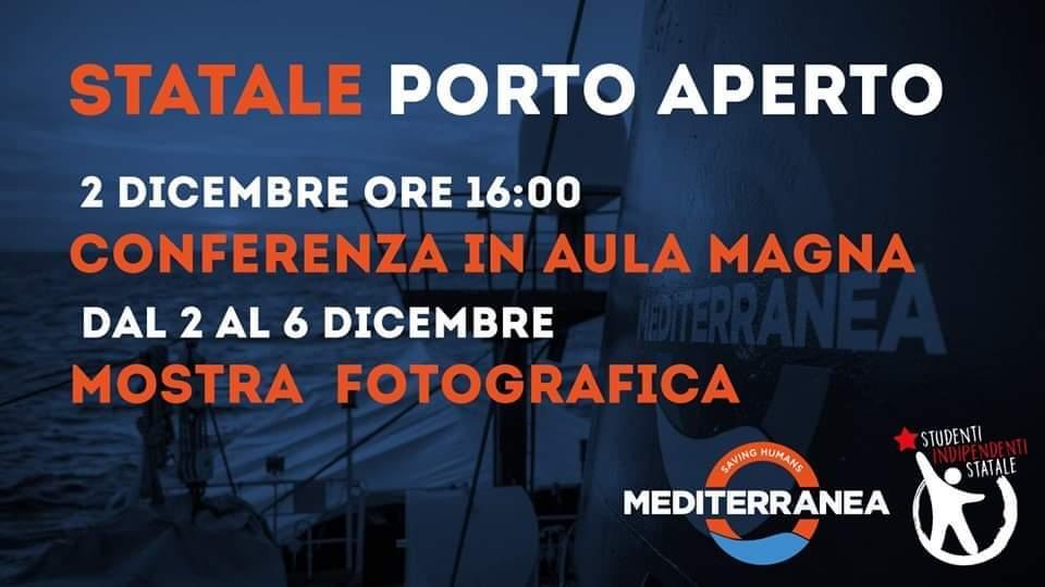Conferenza e mostra fotografica su Mediterranea Saving Humans promossa da Studenti Indipendenti Statale